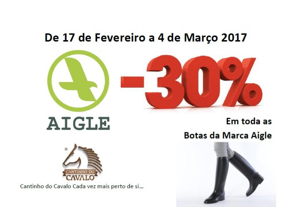 Promoção de 30% em todas as Botas da Marca Aigle