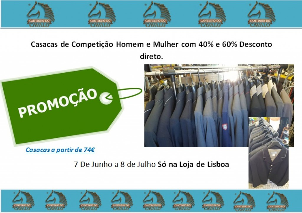 Liquidação de Casacas Loja de Lisboa de 7 de Junho a 8 de Julho 2017