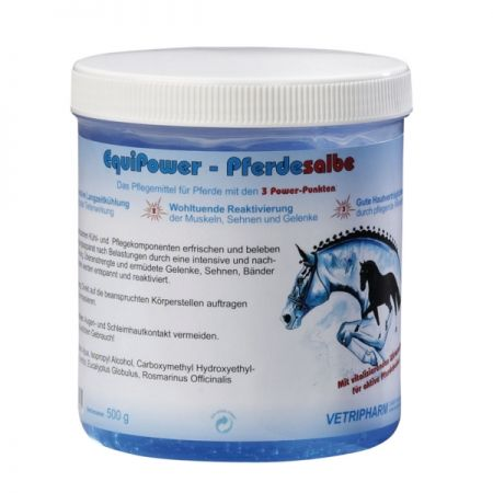 Gel pferdesalbe Equipower, 500mg